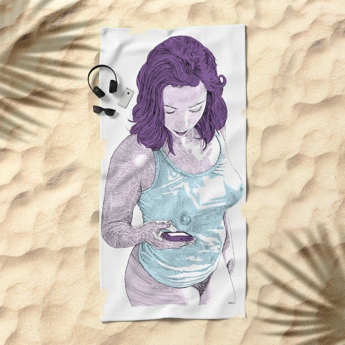 Sugar on my tong Beach Towel