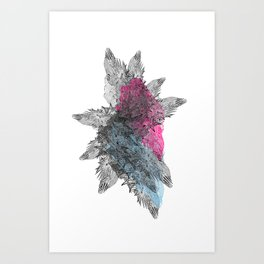 Die Seltsam (runde funf.) Art Print