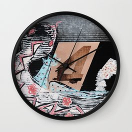 The Painted Lizard - Number Four Wall Clock