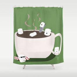 Marshmallow Hot Tub Shower Curtain