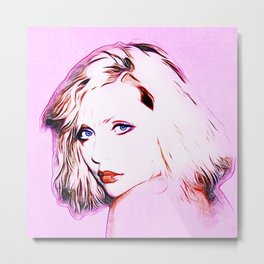 Debbie Harry - Blondie - Pop Art Metal Print