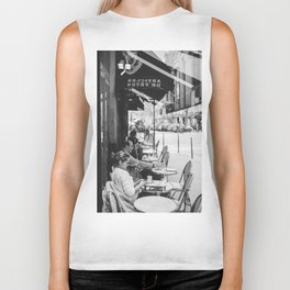 Paris Cafe Biker Tank