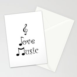 I Love Music Stationery Cards
