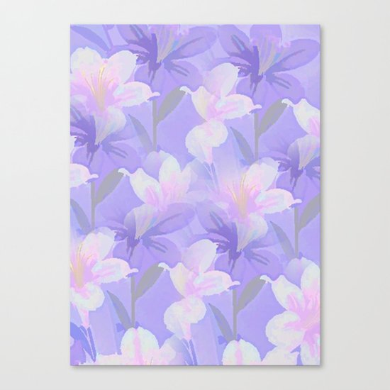 Abundance Of Flowers - Painterly Canvas Print