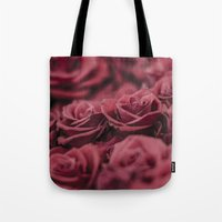 moulin rouge Tote Bags featuring Rouge by Zayda Barros