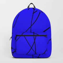 blue & black mess Backpack