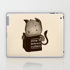 Cat Book How To Manipulate Humans Laptop & iPad Skin