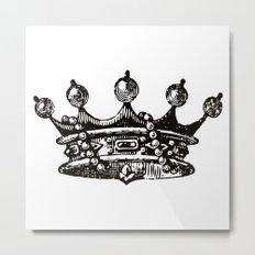 Royal Crown | Black and White Metal Print