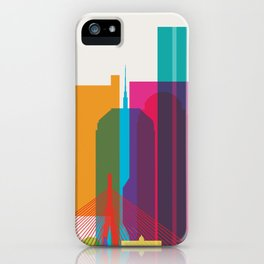 Shapes of Boston. Accurate to scale iPhone Case