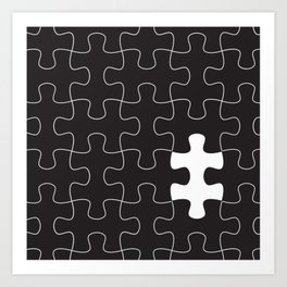 Finding the missing piece II Art Print