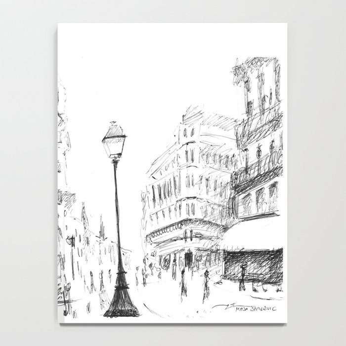 Sketch of a Street in Paris Notebook