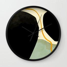 shapes organic mid century modern Wall Clock