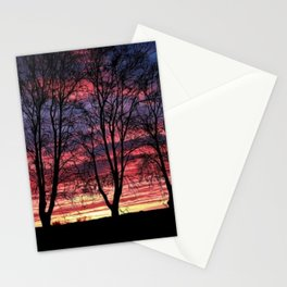 A Winter New England Sunset Stationery Cards