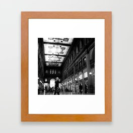 Shopping in Rome Framed Art Print