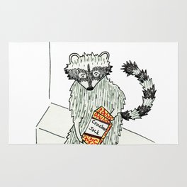 Treat Yo' Self Raccoon Rug