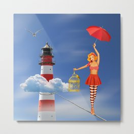 Tightrope dancer, or just flying is better Metal Print