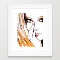 snsd Framed Art Prints featuring SNSD - Jessica  by Noir0083