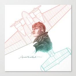Amelia Earhart Courageous Adventurer Canvas Print