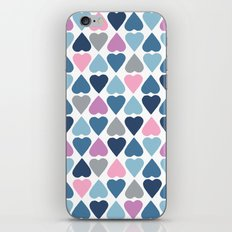 Diamond Hearts Pink iPhone & iPod Skin