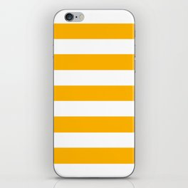 UCLA gold - solid color - white stripes pattern iPhone Skin