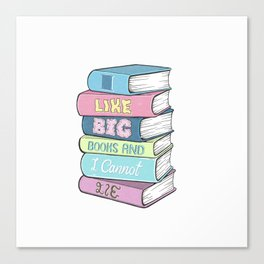 Book lover Canvas Print