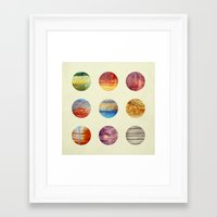 planets Framed Art Prints featuring Planets by Elisabeth Fredriksson