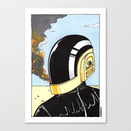 Derezzed Canvas Print