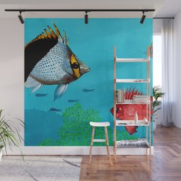 Butterfly & Bigeye fishes Wall Mural
