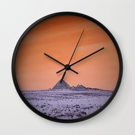 Purple pyramid in Nevada? Wall Clock