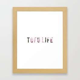 TOFU LIFE Framed Art Print
