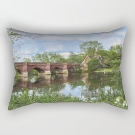 Clifton Hampden Bridge Rectangular Pillow