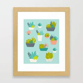 Succulent Container Garden Framed Art Print