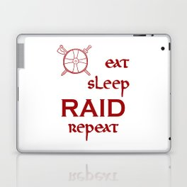 eat-sleep-RAID-repeat red, Vikings Laptop & iPad Skin