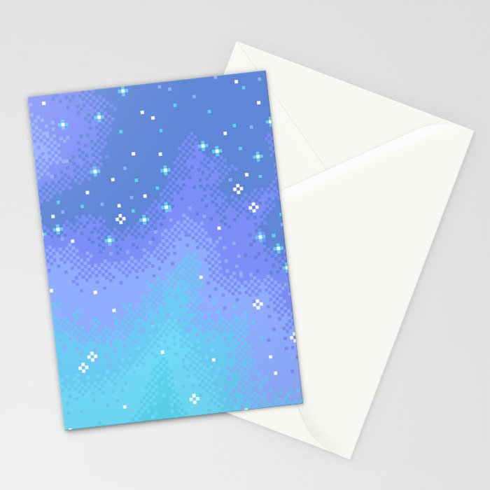 Twilight Nebula (8bit) Stationery Cards
