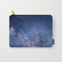 Dark Purple Glitter Galaxy Carry-All Pouch