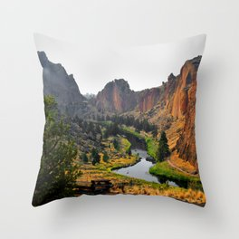Desert Rock Valley Throw Pillow