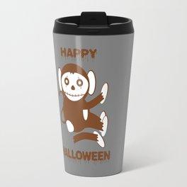 Dead Monkey Happy Halloween Travel Mug