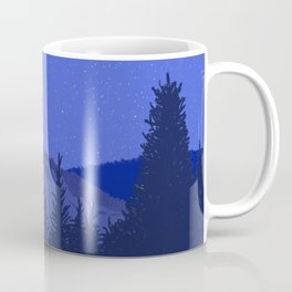 Conifers and Night Sky Coffee Mug