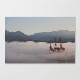 Burrard Inlet Fog Canvas Print