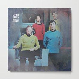Star Trek Bridge Metal Print