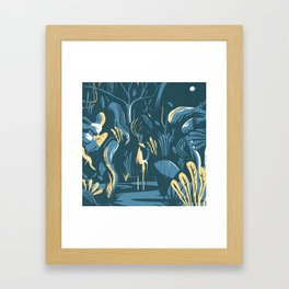 Wood by night Framed Art Print