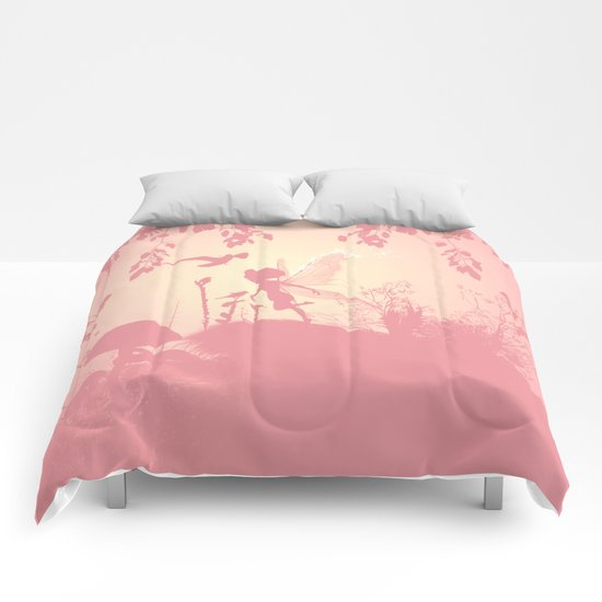 Fairy silhouette Comforters