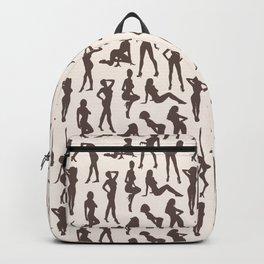 Femmes // Brown & Off-White Backpack