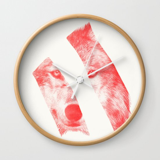 Red - by Eric Fan and Garima Dhawan  Wall Clock
