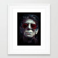 lou reed Framed Art Prints featuring Lou Reed by turksworks