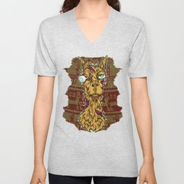 Don't mess with the llama! Unisex V-Neck