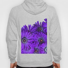 Purple succulent flowers watercolor effect Hoody