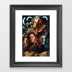 Family Don't End with Blood Framed Art Print