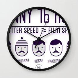 Sunny 16 - 2012 edition Wall Clock