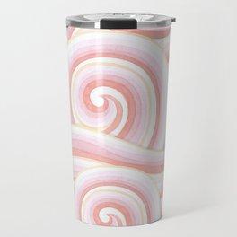 Pink Auspicious Waves Travel Mug